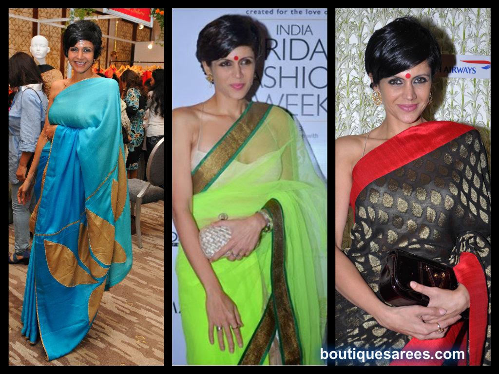 mandira bedi saree blouse fashion
