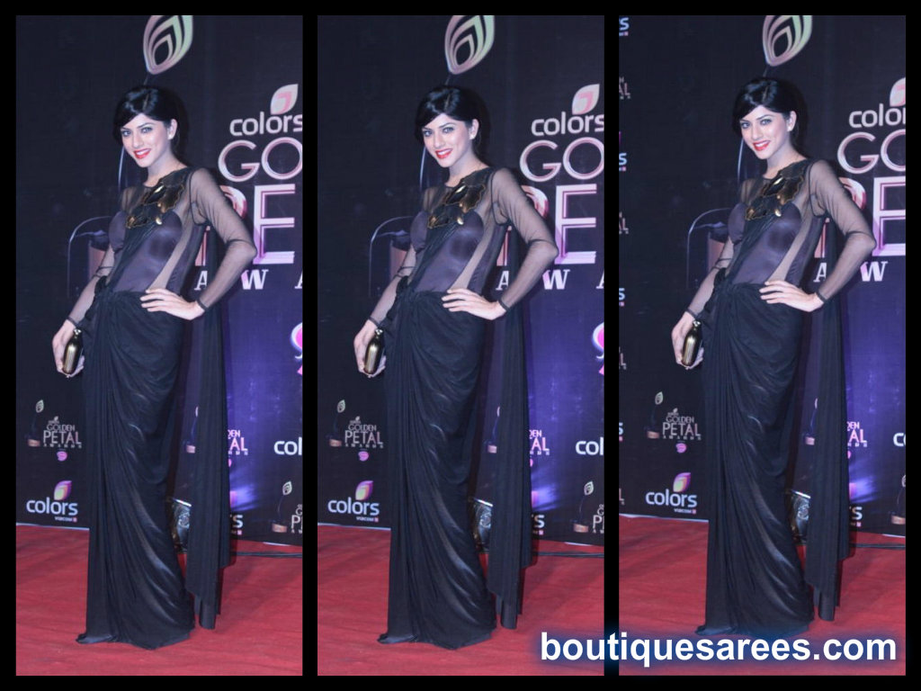 sapna pabbi in black saree