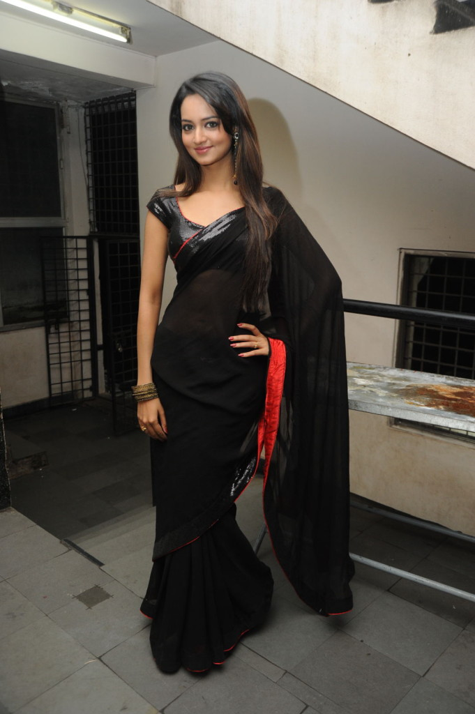 Actress Shanvi New Saree Stills