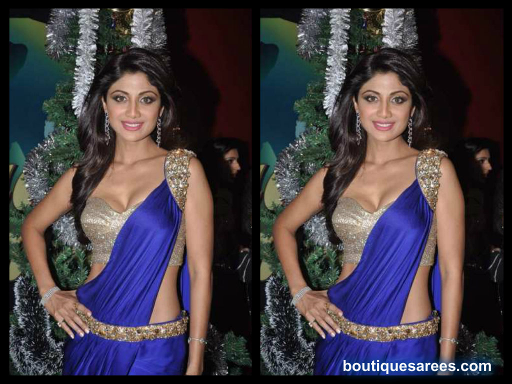 shilpa shetty in saree blouse