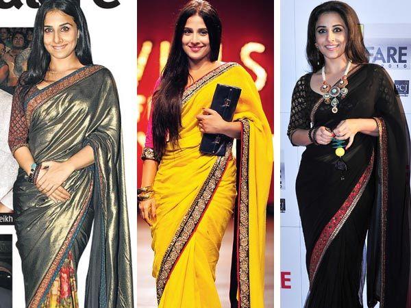 vidya balan saree blouse collection