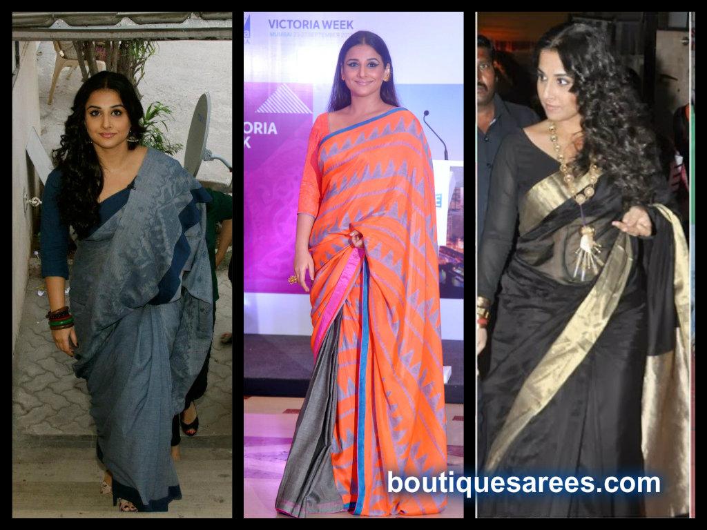 vidya balan saree collection 2013