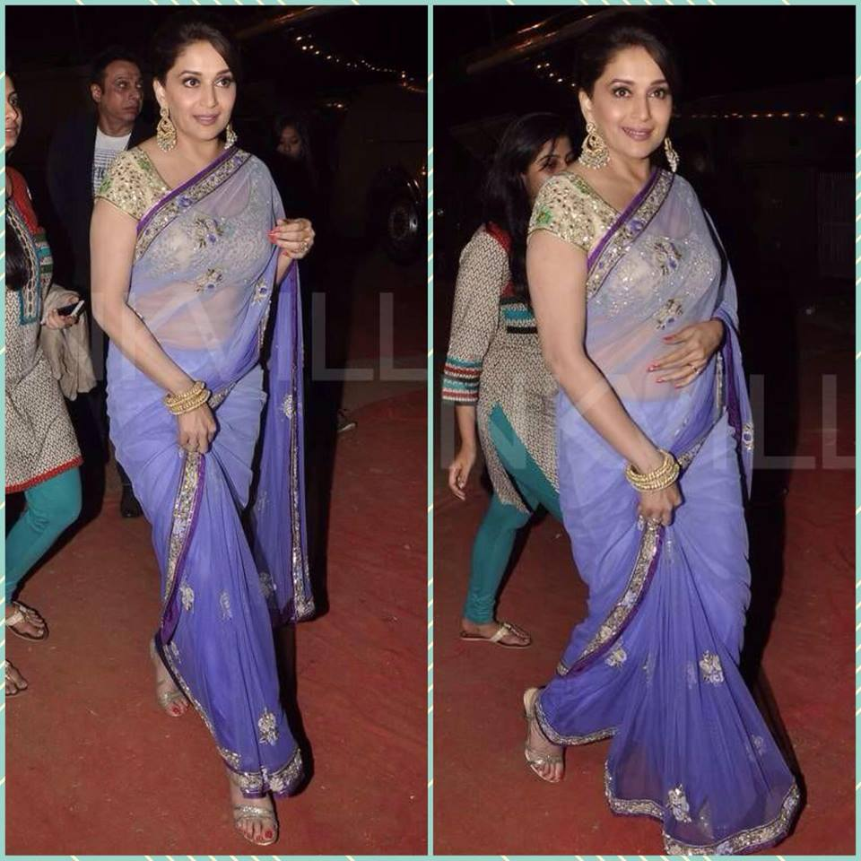 Madhuri Dixit  in arpita mehta saree blouse