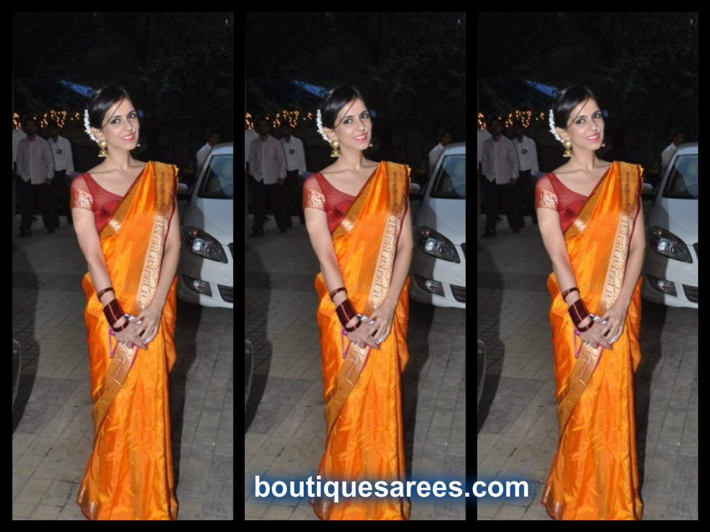 Nishika Lulla in Bridal Silk Saree blouse