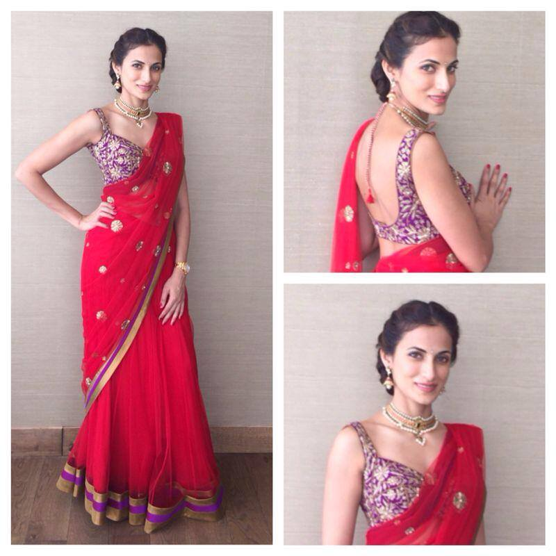 Shilpa reddy in half saree