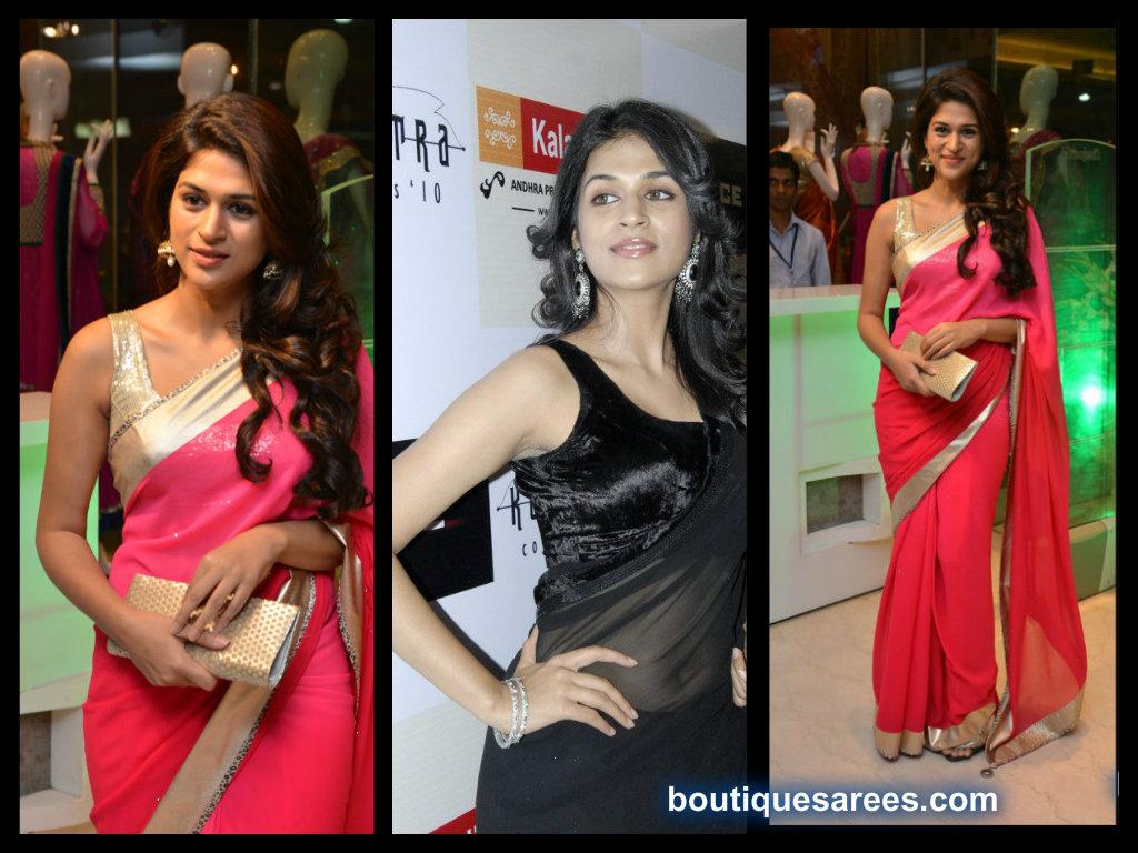 Shradda Das saree blouse fashion