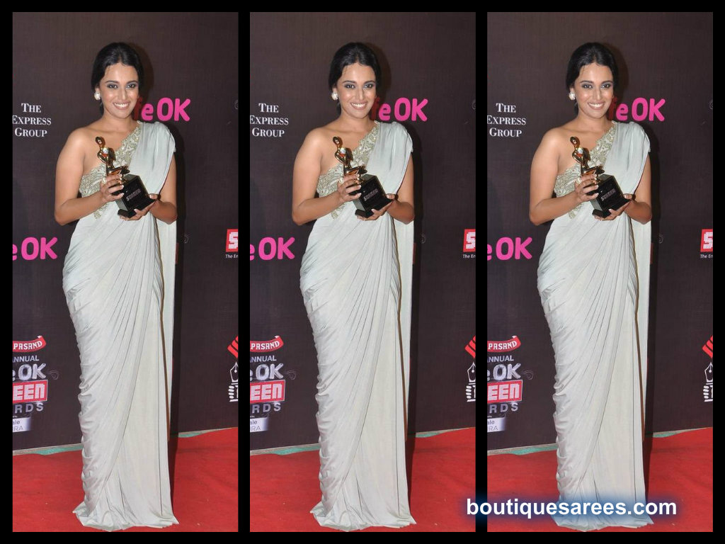 Swara Bhaskar in plain saree blouse