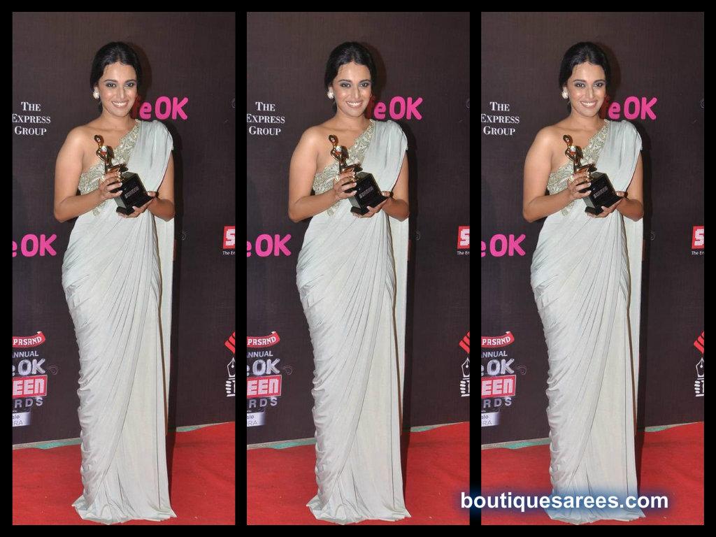 Swara Bhaskar in plain saree blouse