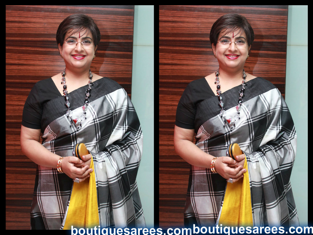 ambika in silk saree blouse