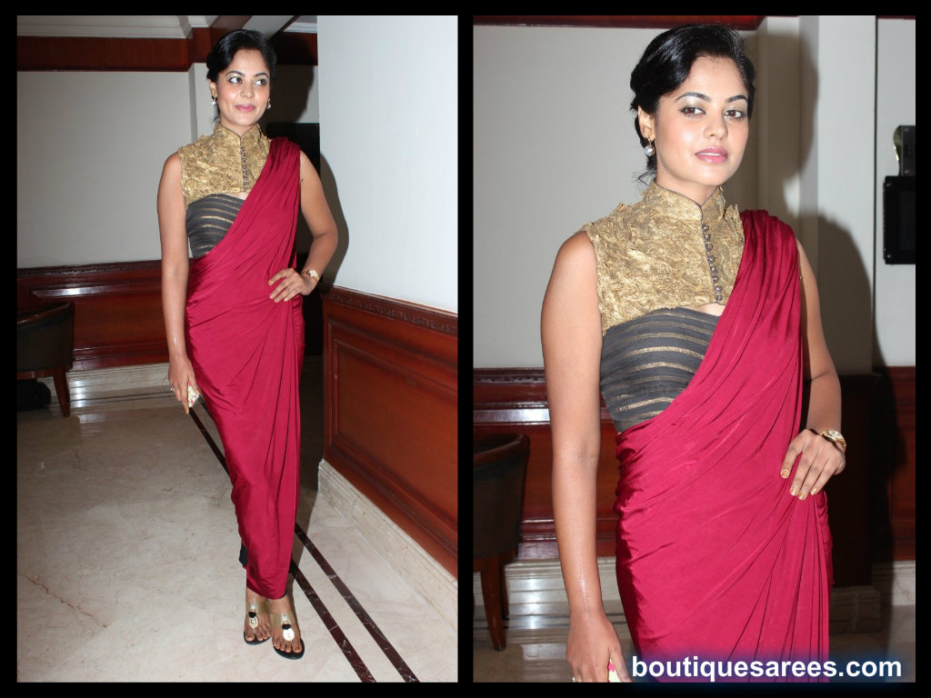 bindu madhavi in shantanu and nikhil saree