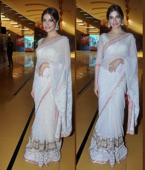divya khosla in white saree
