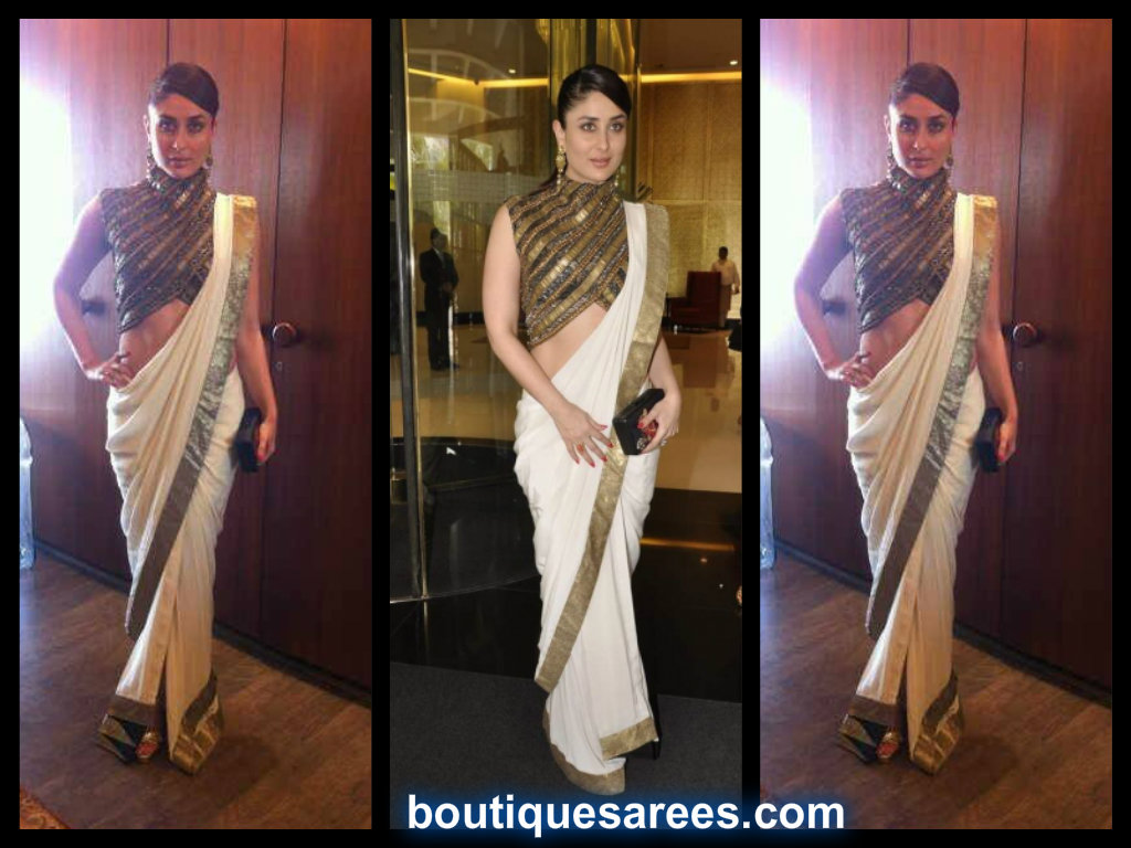 kareena kapoor in anand kabra saree blouse