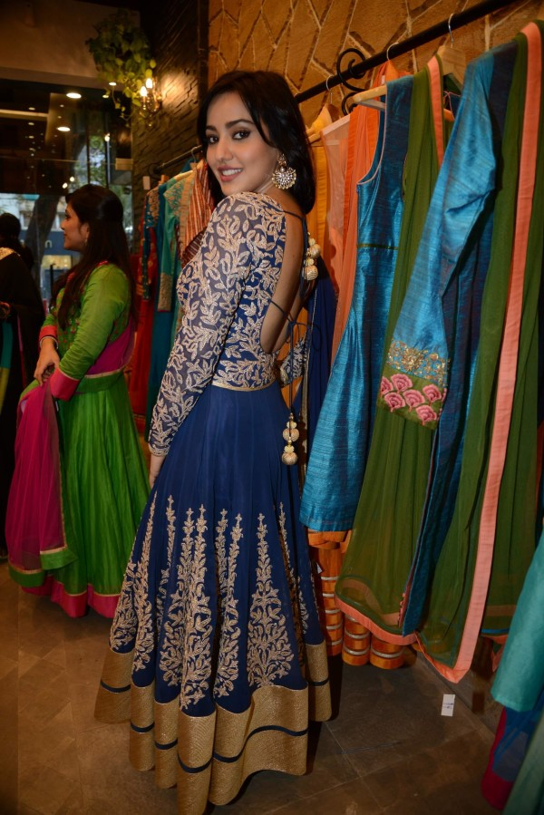 neha sharma in embroidery anarkali