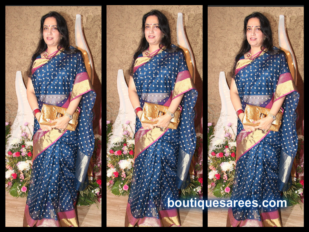 rashmi thakrey in silk saree