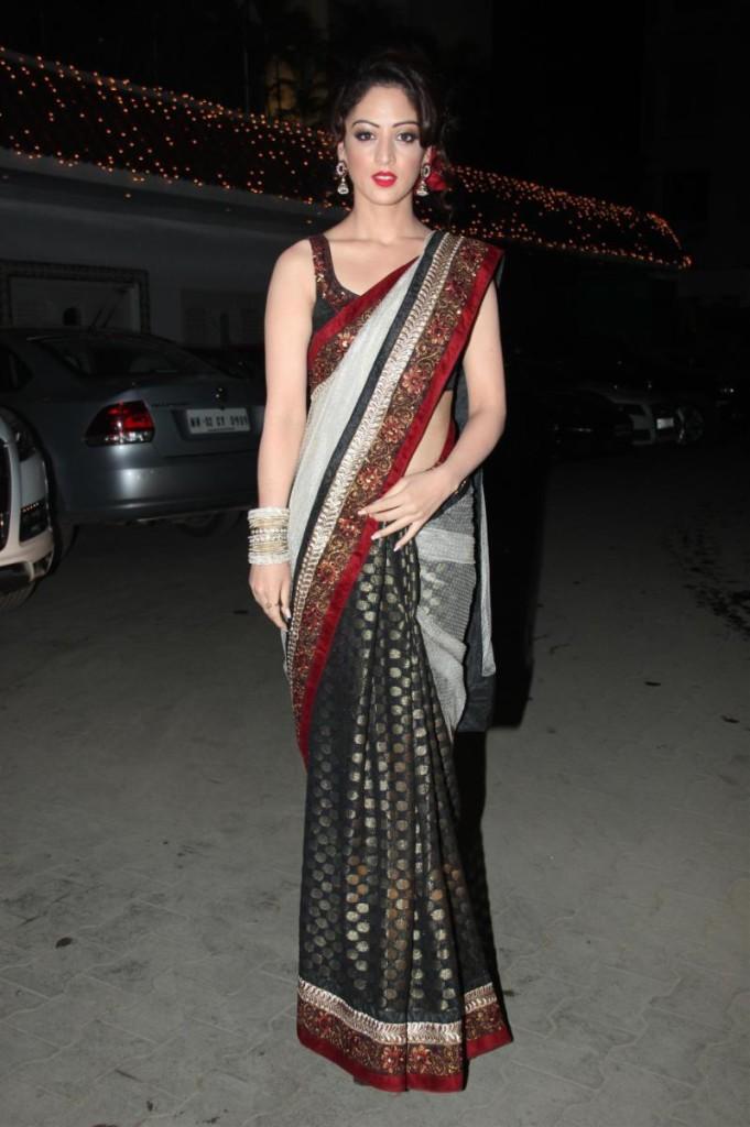 sandeep dhar in half and half saree
