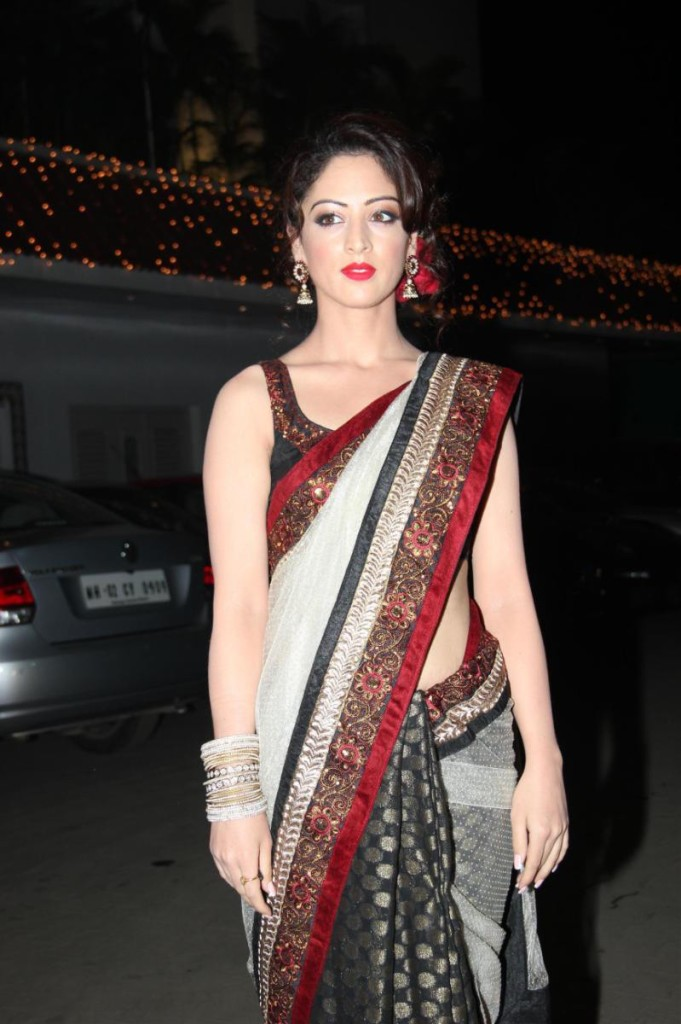 sandeep dhar in half and half sari