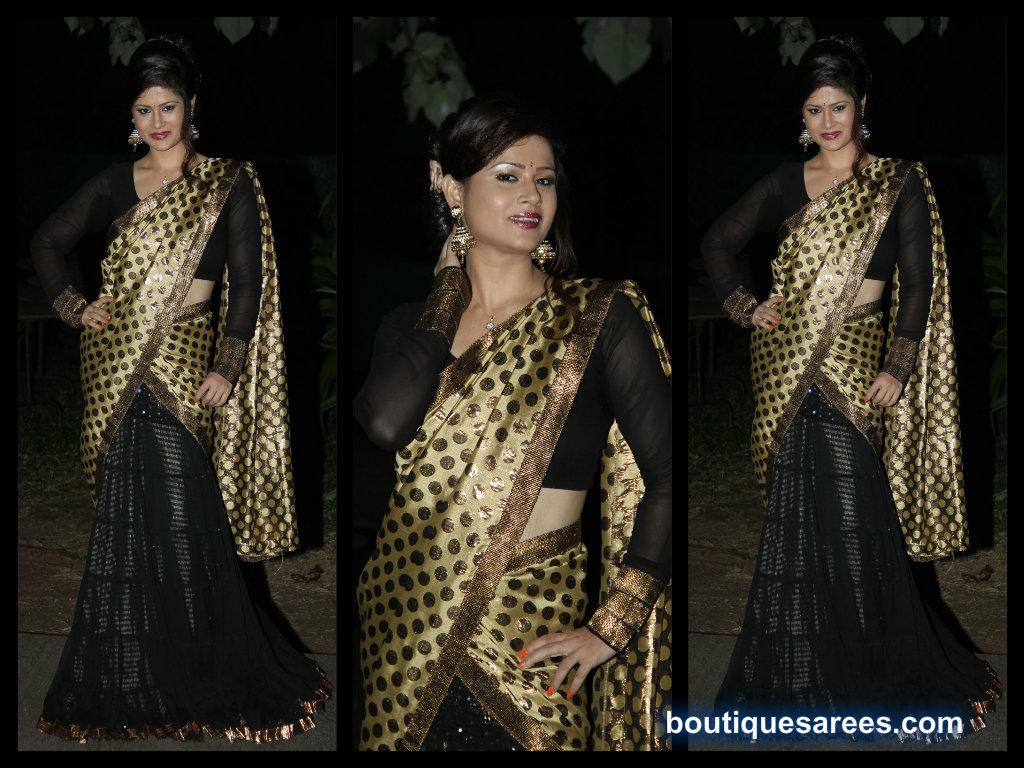 shilpa chkravarthy half saree stills