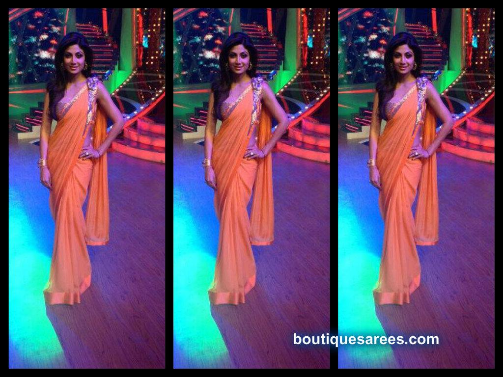 shilpa shetty in gaurav gupta saree