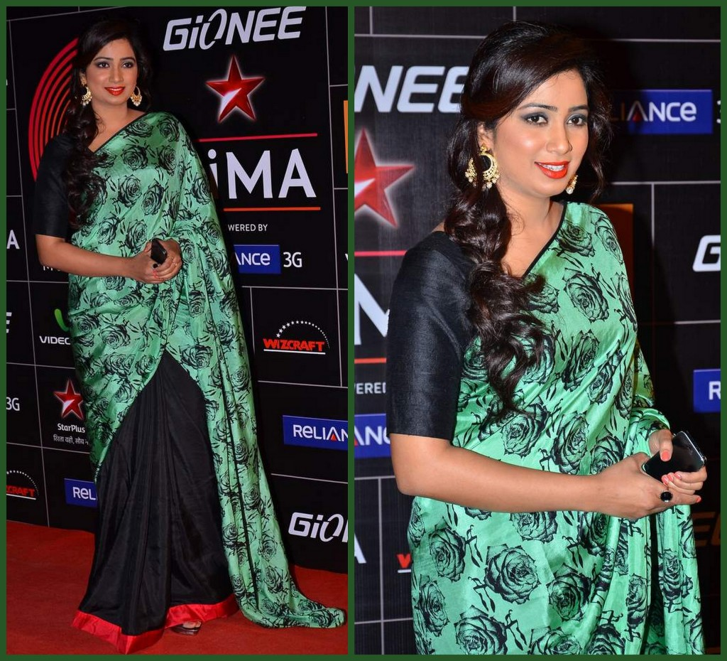 shreya ghoshal in masaba saree