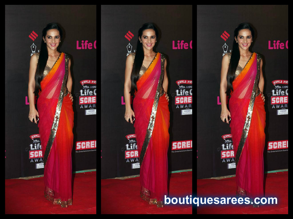 tara shrama in net saree