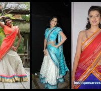 tollywood actress in half saree