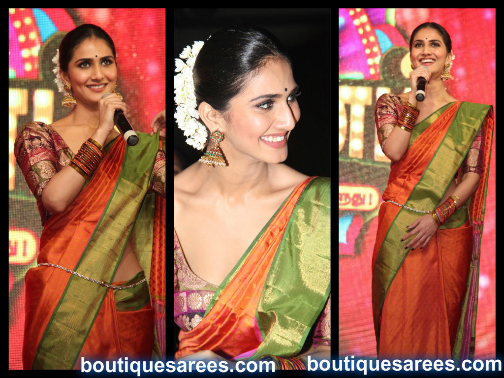 vaani kapoor in silk saree