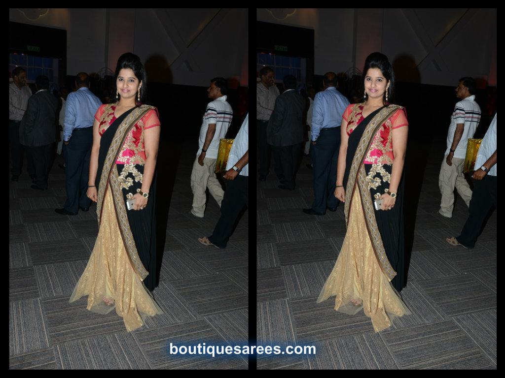 Dil Raju Daughter Hanshitha in net  half saree