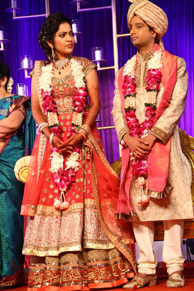 Vijay Tv Anchor Ramya Subramanian Aparajith Wedding Reception Photos Gallery