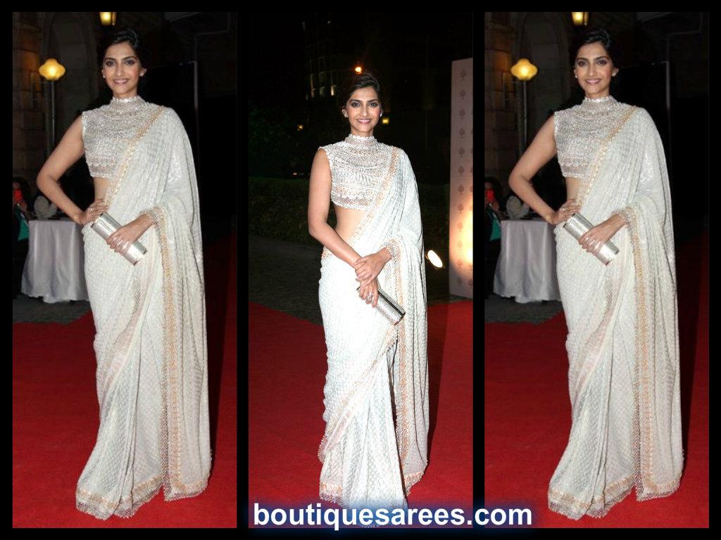 sonam kapoor in abu sandeep saree blouse