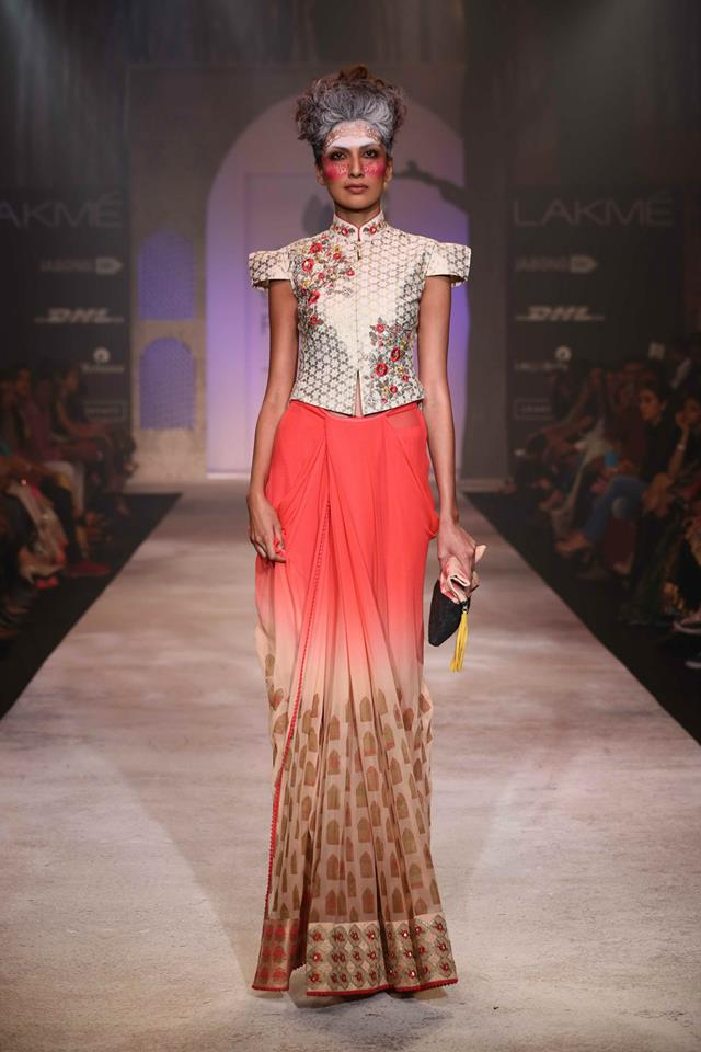 ANJU MODEL SAREE COLLECTION AT LAKME FASHION WEEK 2014