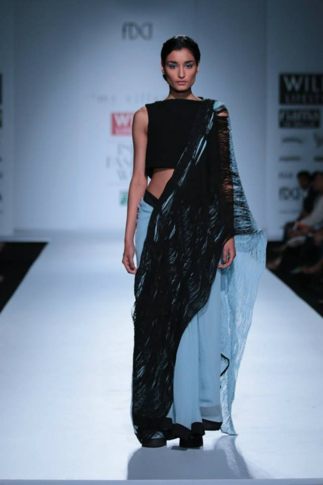 HALF AND HALF SAREE BY RIMZIM DADU