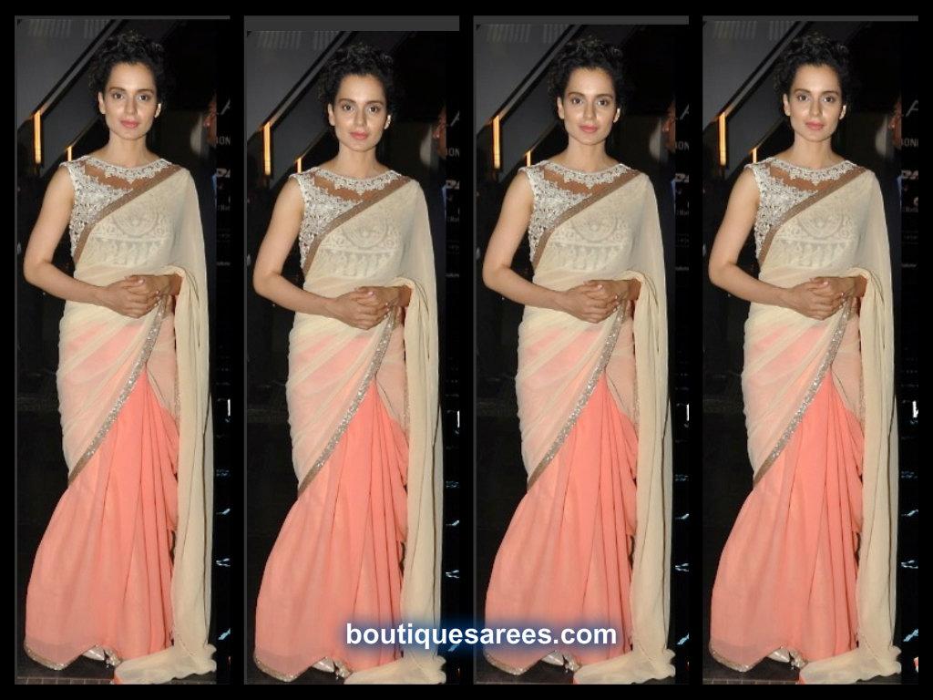 Kangna Ranaut At Manish Malhotra's Saree