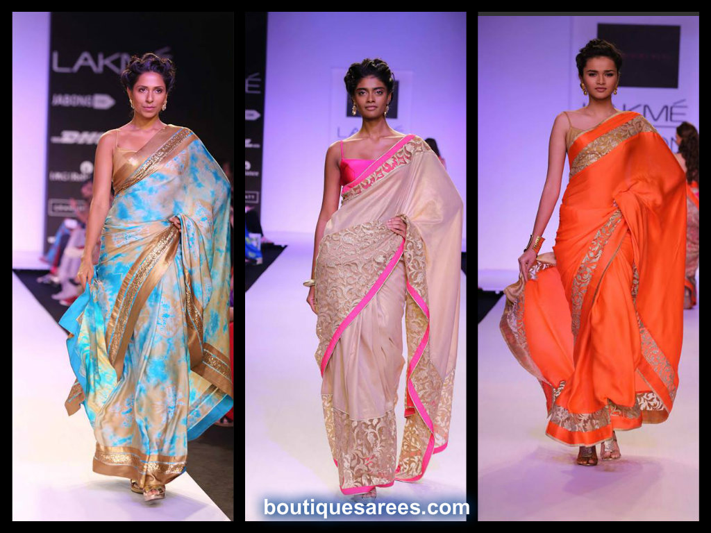 LFW Summer Resort 2014 mandira bedi saree