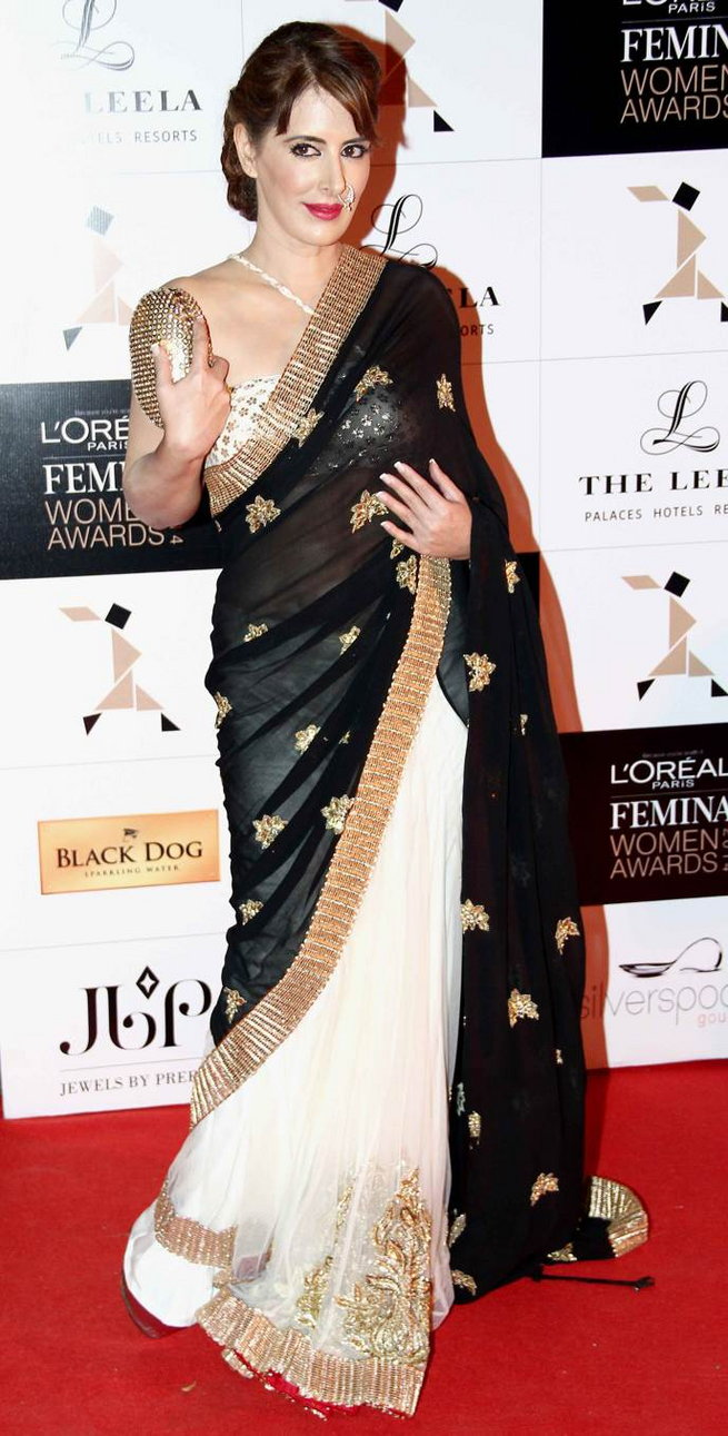 Pria Kataria Puri In Half And Half Saree Boutiquesarees Com