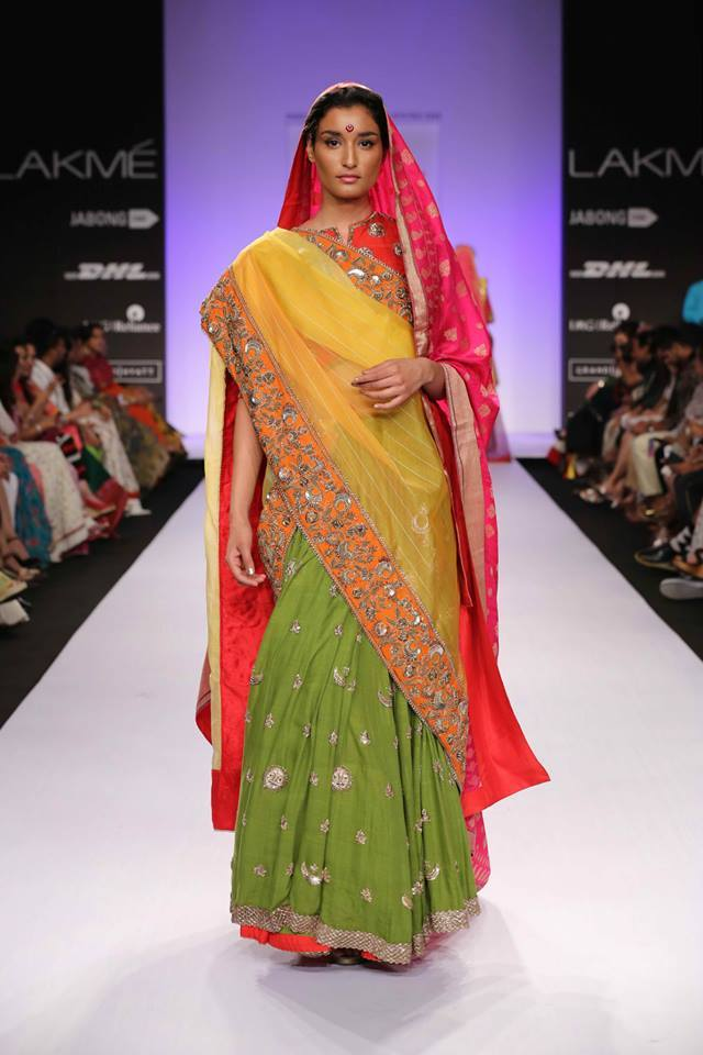 half and half saree by gaurand shah