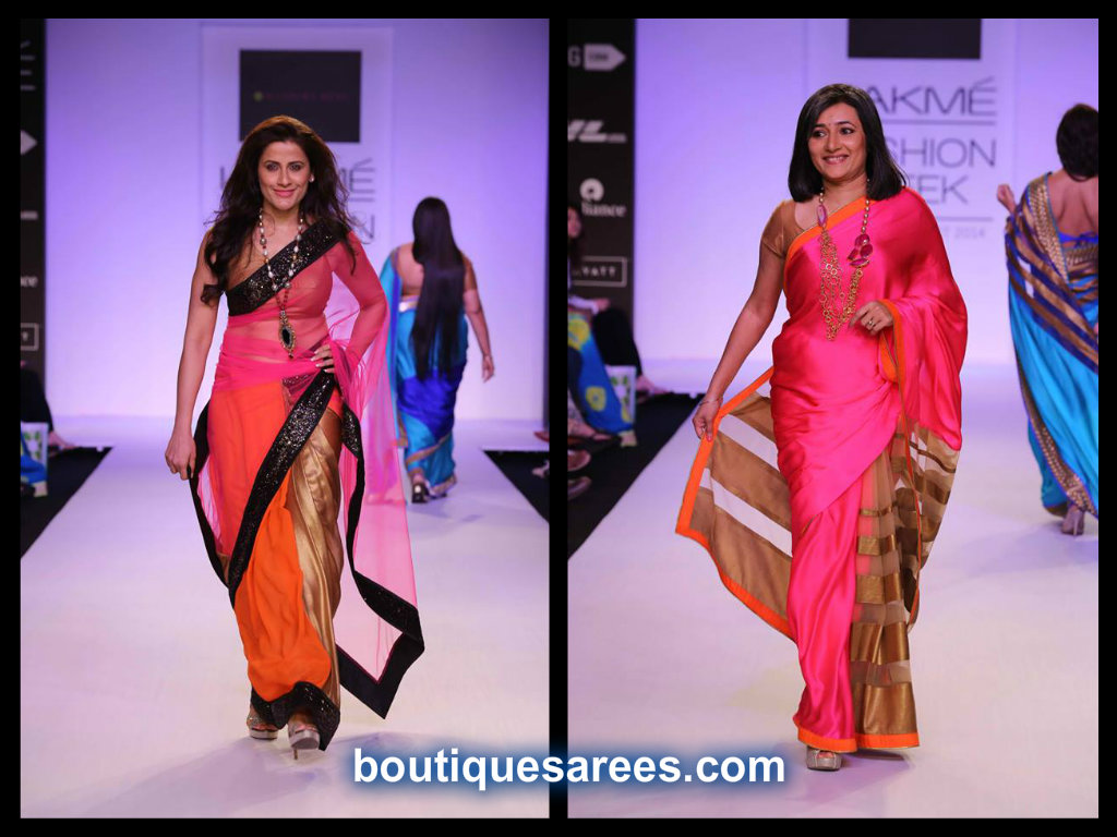 half and half saree by mandira bedi