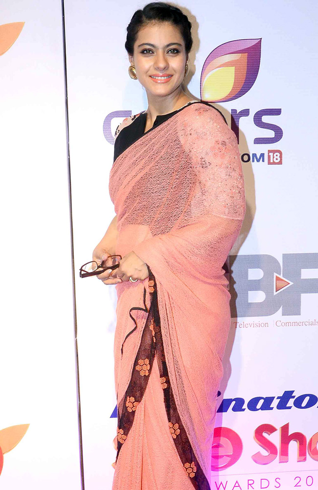 kajol in net saree