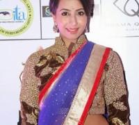 sanjana in half sari