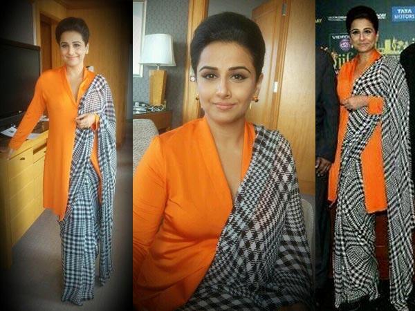 vidya balan in satya paul saree
