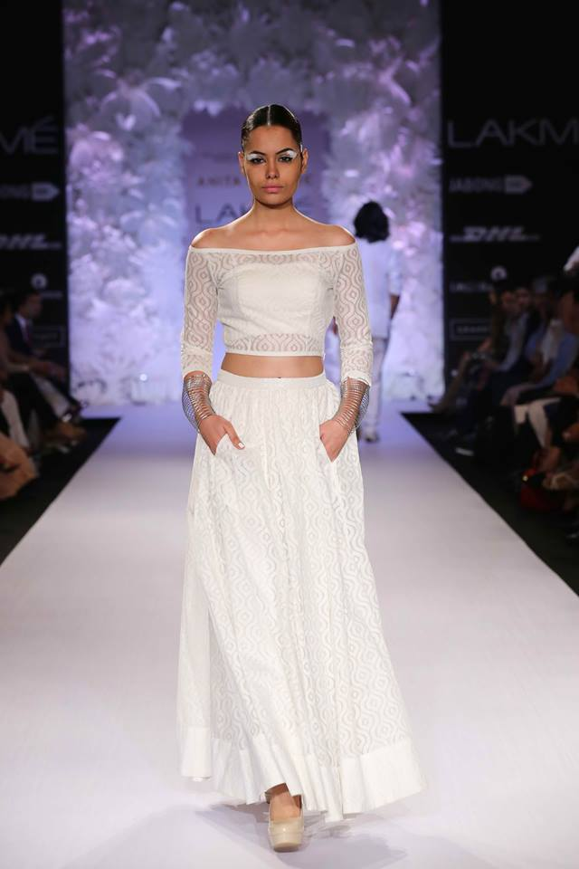 white lehenga by anitha dongre collection
