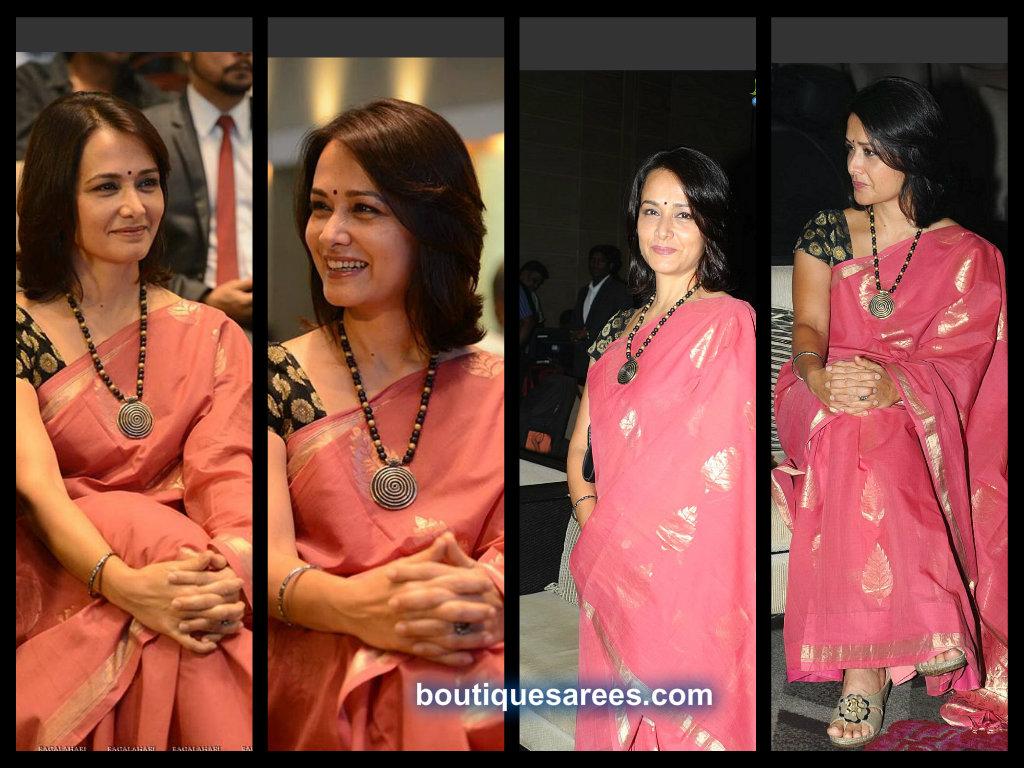 Akkineni Amala In Chanderi Silk Saree Boutiquesarees Com