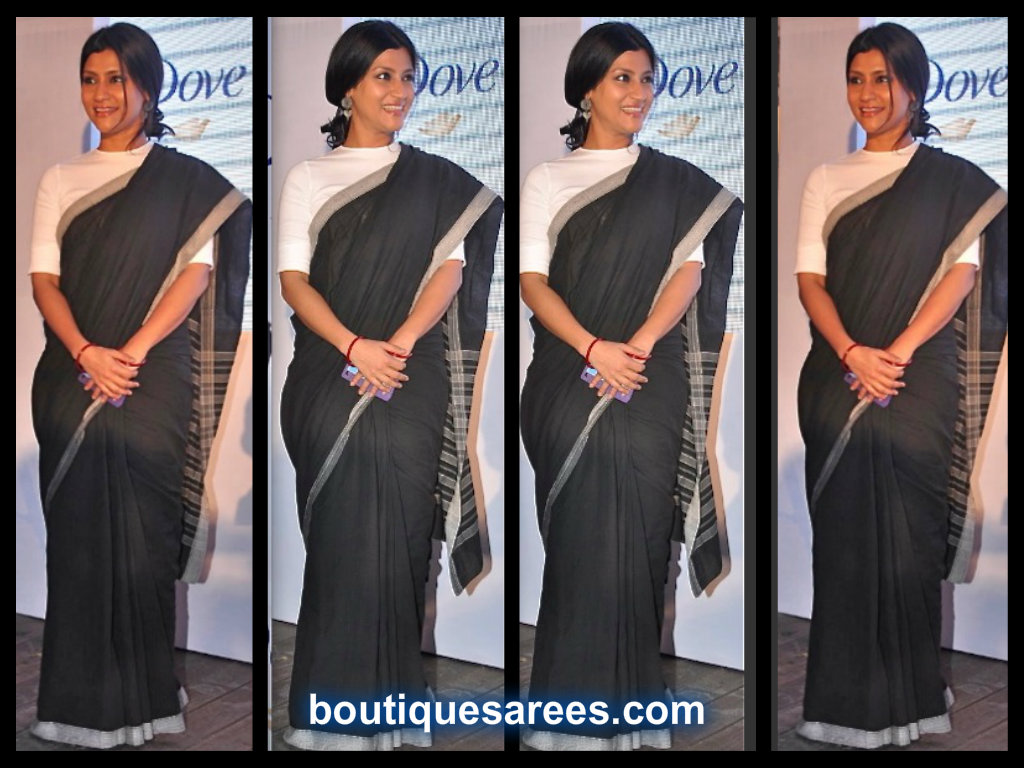 Konkona-Sen-Sharma-in black sari