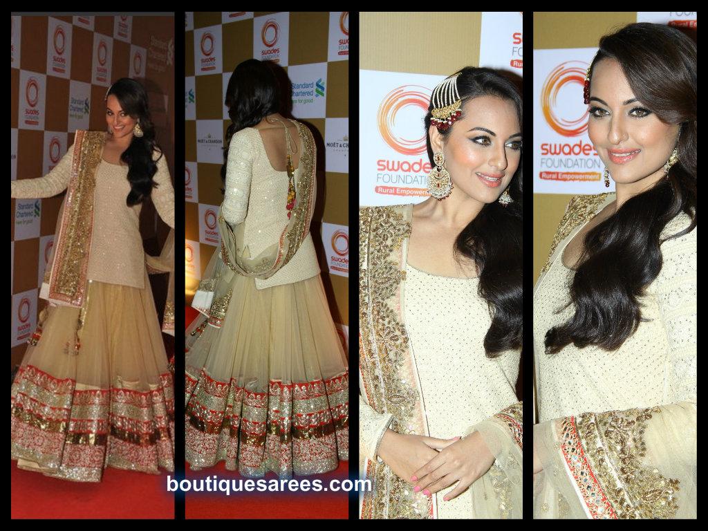Sonakshi Sinha in vikarm phadnis designer lehenga choli.
