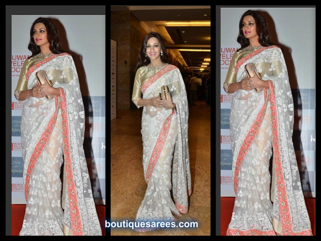 Sonali-Bendre in Manish-Malhotra saree