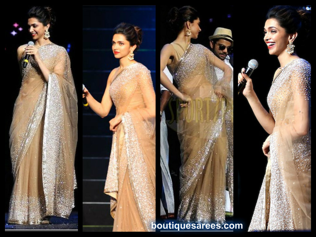 deepika padukone in manish malhotra saree � boutiquesareescom