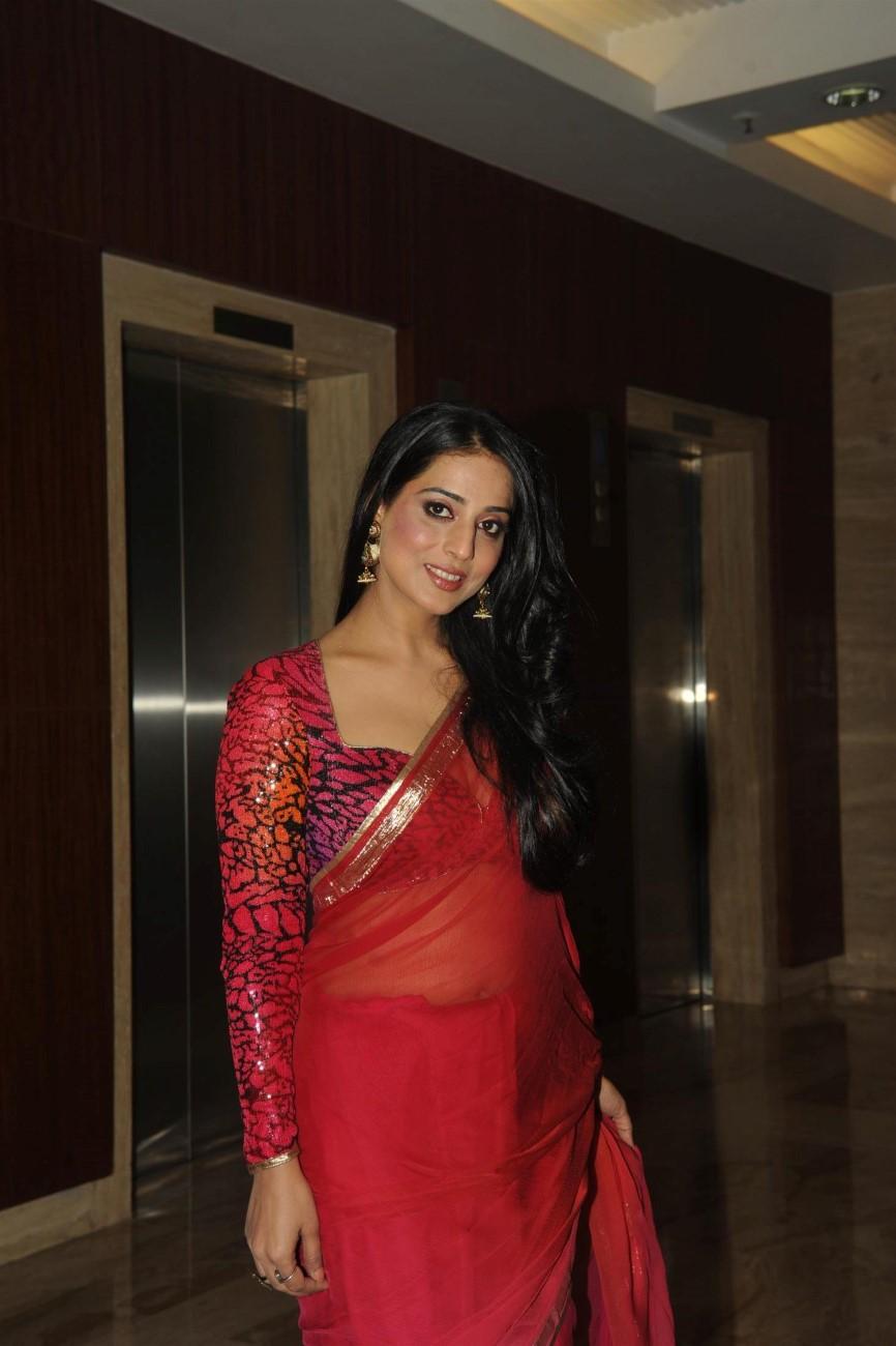 mahi gill in red sari