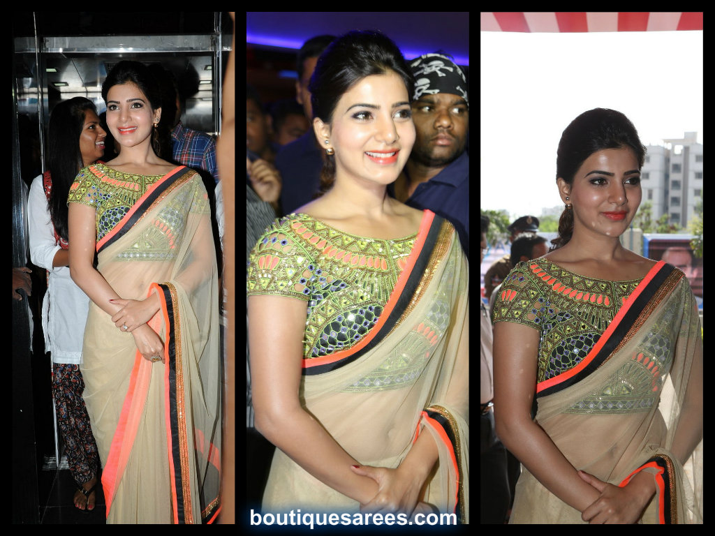 samanta in plain saree