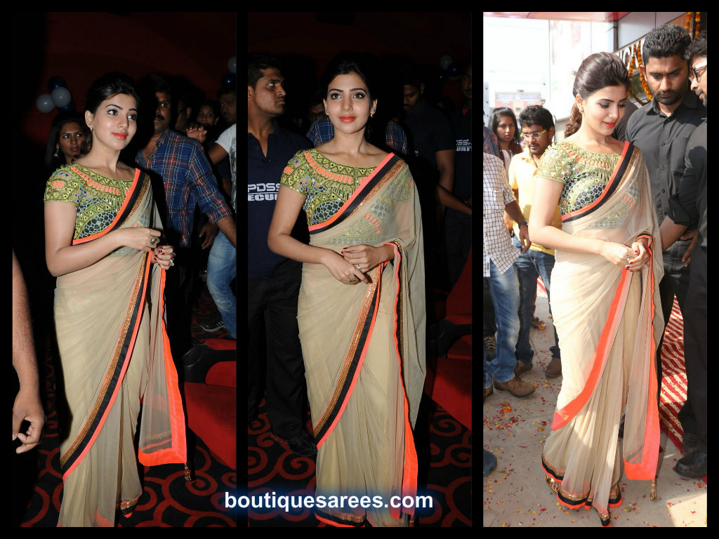 samantha in arpita mehta saree blouse