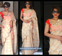 sheerdevi chowdary in kota saree blouse