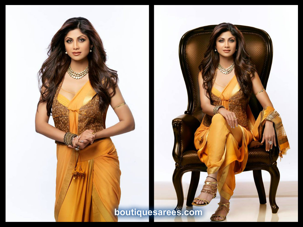 shilpa shetty in tarun thahiliani saree